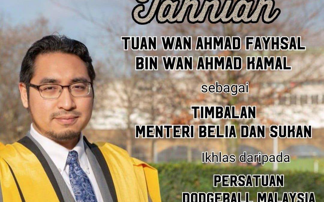 Sekalung Tahniah Diucapkan Kepada Tuan Wan Ahmad Fayhsal bin Wan Ahmad Kamal
